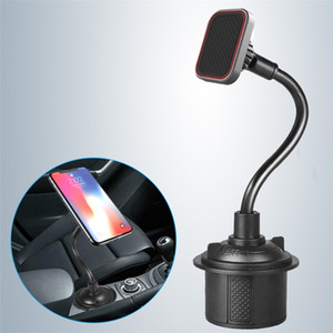 Magnetic Suction Car Cup Holder Phone Mount Adjustable Gooseneck Cell Phone Holder Stands Supports Smartphones Voiture