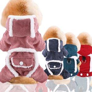 Puoupuou 두꺼운 따뜻한 애완 동물 개 옷 겨울 까마귀 강아지 의상 귀여운 개 옷 스웨터 애완 동물 옷 만화 Ropa 파라 페르로 J1216