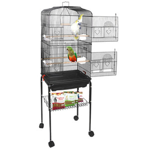 59 '' Rolling Bird Cage Paraket Finch Budgie Conure Housebird House с подставкой