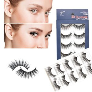 3D NEW YORK Faux Mink Beauty Eyelashes GLAM Volume Set Makeup Silk Fake Lashes 5 Pairs