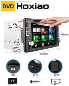 GPS universal car radio 2 din Car DVD player GPS navigation computer speakers free maps of TF card 2DIN CD Free shipping1
