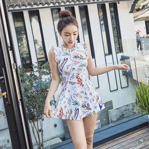 Hot Spring Frauen Push Up One Piece Bademode Plus Size High Waist Big Rock-Dame-Badebekleidung Neueste Badeanzug Badeanzug