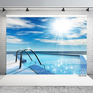 Swimming Pool Photography Backdrops Computer Printed Vinyl Cloth Photographic Background for Portrait Children Home Photo Studio