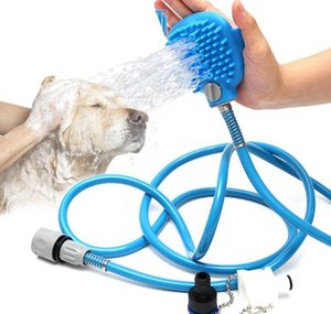 Pet Bath Shower Water Sprayer Pets Supplies Bathing Cleaner Tools Cleaning Massage Scrubber Sprayer Hand Massage Pet Comb DBC BH2993