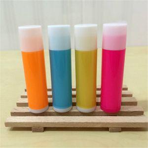 5ml Plastic Lipstick Tube Empty Handmade Lip Oil Bottle Batom DIY Cream Containers Orange Gold Pink Blue Color