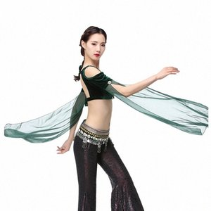 2018 ATS Tribal Bauchtanz Kleidung Flannelette Tank Top Choli Tops weg von der Schulter Backless langen Ärmeln Frauen Gypsy Tribal Dance xsdD #
