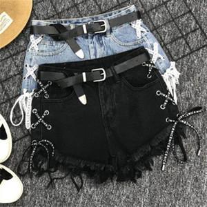 Плюс размер 5XL! Урожай кисточка джинсовые шорты женские кружевные джинсы милые горячие шорты уличная одежда повседневная вечеринка шорты T200512