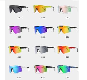 Deportes marco grande a prueba de viento de equitación vasos de colores gafas de sol polarizadas