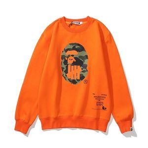 Impression de couleur unie Impression tête d'impression hommes Hommes Sweat à capuche Text Text Couverture Noir Blanc Orange Sweat-shirt pour adulte Sizem-3x 201021