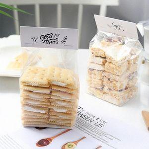 50pcs جديد حلوى الزفاف كوكي هدية حقيبة الذاتي حامل حامل كب كيك البسكويت اليدوية DIY عيد الميلاد التغليف البلاستيكية حقائب 2020 62sM #