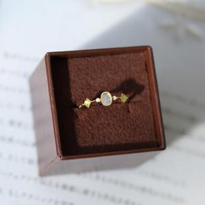 Lamoon 925 anillo de plata para las mujeres Natural Aquamarine sintético Coral Stone anillo plateado oro de 14K Piedras preciosas joyas LMRI094 1019