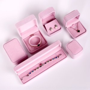 fhwhP Jewelry flannel necklace flannel Ring Earring Bracelet jewelry pendant box Bracelet case pendant case packing box