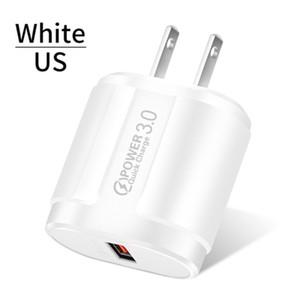 Быстрое зарядное устройство Q C 3,0 USB US Universal Mobile Phone EU Wall Fast зарядный адаптер для iPhone Samsung Xiaomi