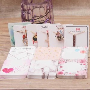 Venta de envoltura de regalo Llegada 5 * 5 cm Joyería de moda encantos / colgante / collar Paquete Papel Tarjeta de papel MIX ESTILOS L3 * 3CM Stud Pendiente Tag