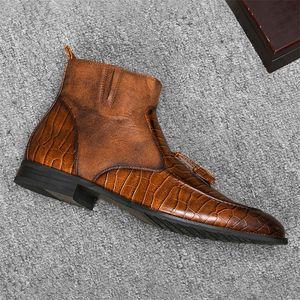 40-46 Brand Uomo Boots Wootten Top Quality Bel Belle comodi Molle Stivali in pelle retrò # LJ201023
