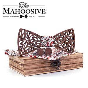 Mahoosive Simple Men's Suit Wooden Bow Tie For Groom Wedding Party Men Formal Wear Business Cravat Bow tie Clothing Accessories