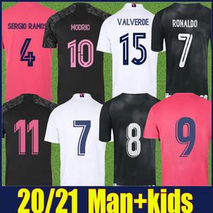 20 21 Реал Мадрид Джерси Человек Детский комплект Хазард Вальверде Модрический футбол Джерси Вини-младший Kroos Benzema Asensio Sergio Ramos CamiSeta Real Madrid