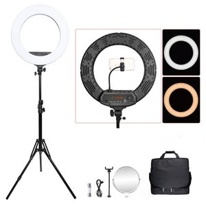 FOSOTO 18 Inch Led Ring light Photographic Lighting Ringlight Ring Lamp Video Light With Tripod For Phone Camera Makeup Youtube C1002