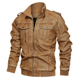 PU Leather Jacket Men Military Jackets Coats Thick Warm Fleece Winter Jacket Men Faux Leather Jaqueta De Couro Plus Size