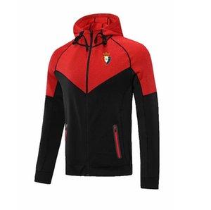 Ca osasuna homens warn casaco adulto jaqueta futebol fitness correndo roupas inverno futebol jaqueta com capuz treinamento jersey