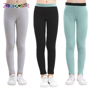 ZUKOCERT Gençler Kızlar Tayt Sonbahar Sıcak Pamuk Kız Sıska Kalem Pantolon Çocuklar Kalınlaşmak Kız Pantolon 3-12Y Çocuklar için Tayt Kalınlaşmak 201207