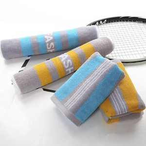 2 Pieces Cotton Sport Towel Lengthened and Enlarged Towel Fitness Running Outdoor Cotton Thickened Absorbent Sport