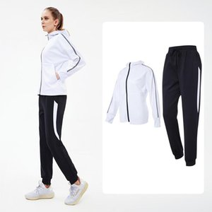 Jstong Sports Running Women Loose 2 Piece Set Quick Dry Coats Sports Pants Fitness Gym Outdoor Running Suit Clothing