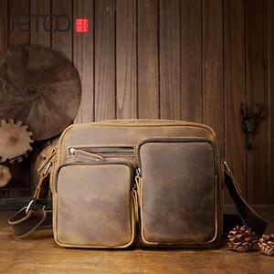 HBP Aetoo Handmade Crazy Horse Leder Retro Handtasche