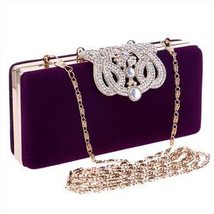 Clutch Bags For Women Crown Rhinestones Evening Bags Shoulder Bag For Wedding Diamonds Lady Purse Handbags Bolso Mujer Sac