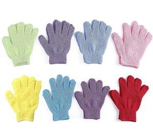 Nemlendirici Spa Cilt Bakımı Bez Kese Five Fingers Edici Eldiven Yüz Vücut Yıkanma Dayanıklı Yumuşak Eldiven FWF1090