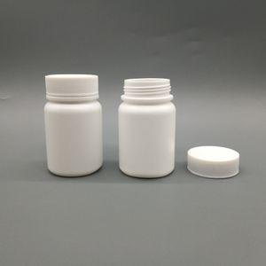 50pcs lot 60cc 60ml HDPEwhite empty Pharmaceutical bottle, plastic Capsule refillable bottle with Aluminum Sealer and Screw cap