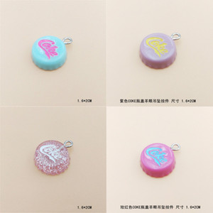 10Pcs Lot Flat back Glitter Cap earring Resin necklace pendant keychain charms for Christmas DIY decoration:16*20mm