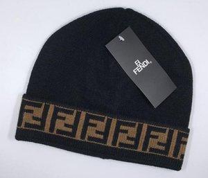 Freies verschiffen 2021 mode klassische top ff marke hochwertige männer und frauen freizeit gestrickte hüte halten warm in winter beanie schädelkappen