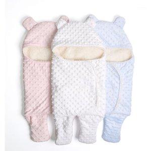 Battaniyeler Kundaklama Polar Bebek Battaniye Doğan Kundak Wrap Yumuşak Kış Yatak Alıcı Manta Bebes Uyku Tulumu 0-18M Borns1