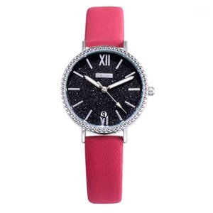 OKTime Wristwatch Horloge Watch Femmes Vintage Cuir Band Accessorios Mujer Student Femmes Montres Mesdames Bracelet Montre1