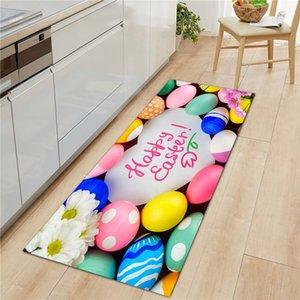 Fußmat Rutschfeste Waschbare Teppich Fröhliche Osterei Gedruckt Indoor Outdoor-Eingang Badezimmerbodenmatten