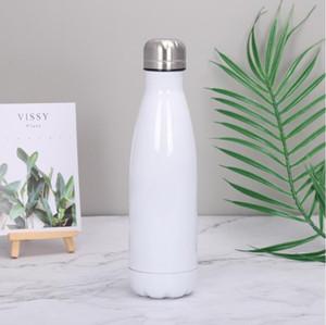 17oz sublimação em branco cola garrafa de aço inoxidável parede dupla vácuo beber copo 500ml ao ar livre esporte garrafas de água mar transporte cca12605