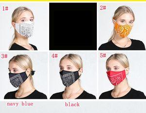 Diseñador VMEU Polvo a prueba de polvo 5 estilos Máscaras protectoras Floral Moda personalizada Lavado de algodón con máscara suave máscara máscara transpirable FFA4082 PR RNCH