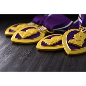 American U.S. army purple heart Medal Superior Quality badge cllection chest medals with ribbon box Decoration