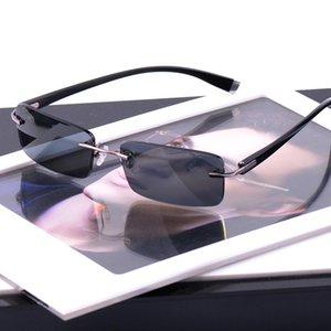 Vazrobe Hommes Lunettes de soleil mode polarisants Lunettes de soleil pour homme Polarod conduite Pêche (145mm) Marque Rimless Qualité case libre T200612