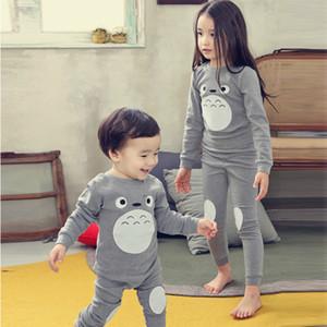 Syue Moon Girls Pajamas наборы дети милые Totoro Pajamas детей 100% хлопок смайума ребёнок домашняя одежда ночной одежда W1222