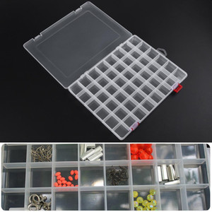 Plastic Storage Box 48 Compartment Transparent Plastic Boxes Fishing Tackle Jewelry Earring Beads Storage Container Bin Y1113