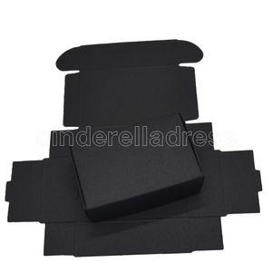 9.4x6.2x3cm Black Paper Paper Boxen für Hochzeit Geschenke Kartenpaket Kraftpapier Box Geburtstag Candy Crafts Umwickeln Dekoration Box 50 stücke