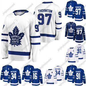 #97 Joe Thornton Jersey Youth Lady Men Toronto Maple Leafs 16 Mitchell Marner 91 John Tavares 34 Auston Matthew 88 William Nylander Jerseys