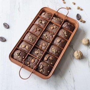 Pişirme Pan Yapışmaz Paslanmaz Çelik Krowie Pişirme Tavalar Yaratıcı Çikolatalı Kek Kalıp Kalın Kare Kafes Kalıpları Bakeware Araçları ZYY347B