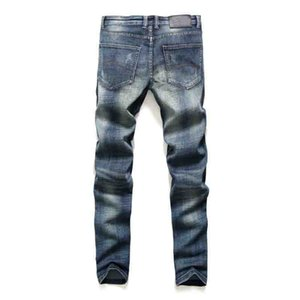 Mens Jeans England Style Men Slim Jeans Trousers High Quality Casual Men Retro Jean Fashion New Washed Straight Pants 6 Colors