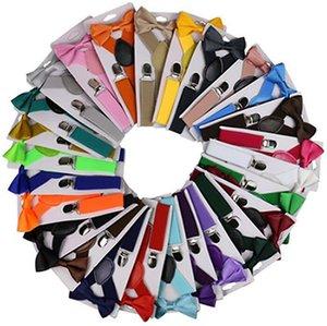 Ceinture Bowtie Set bonbons de couleurs pour enfants avec bretelles réglables Bow Tie Filles Garçons 26 gros Bretelles Party Designs Fournitures IIA872