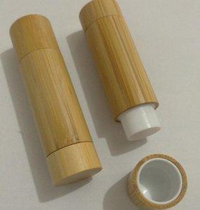 empty 5ML bamboo lipstick tube container DIY lip gloss cosmetic containers, lip balm tube, bamboo design lip stick tubes SL22