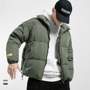 New Men Down Jacket Thick Warm 2020 Winter Mens Casual Solid Parka Coats Windproof Slim Zipper Outwear Overcoat Cotton-Padded