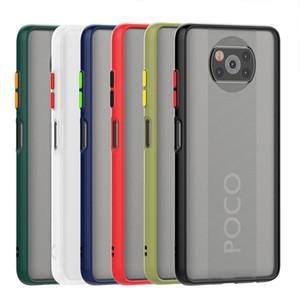 Botones coloridos de la PC TPU híbrido de teléfono del protector del cuerpo para Xiaomi Poco X3 NFC dedo de impresión de prueba